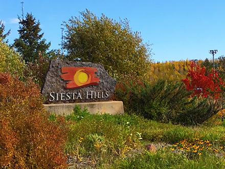 Siesta Hills Welcome Sign