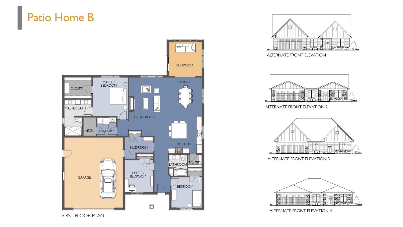 Siesta Hills Patio B Floor Plan